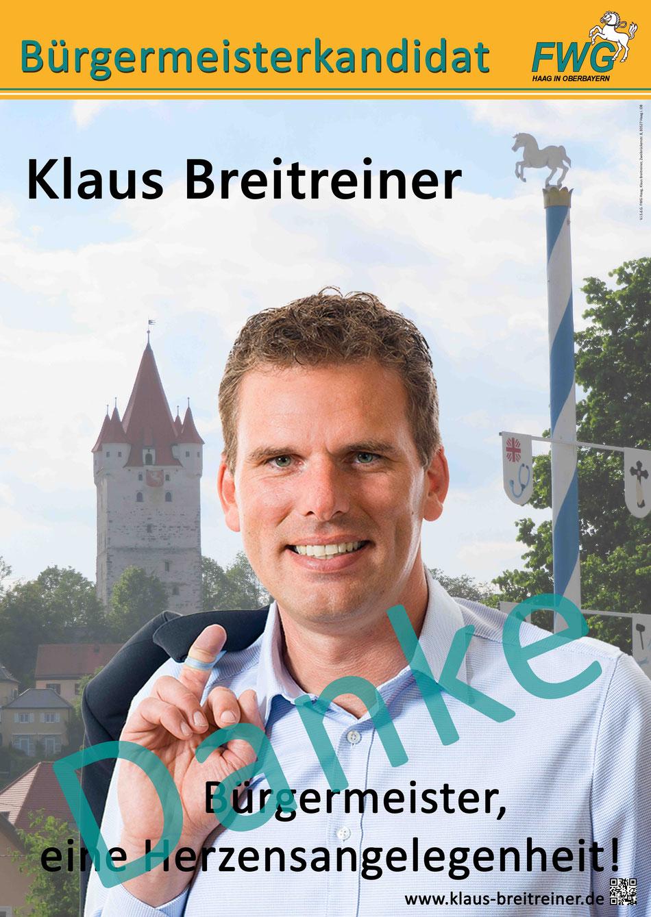 Danke von Klaus Breitreiner